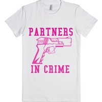 Partners In Crime 1-Female White T-Shirt