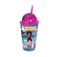 Steven Universe Crystal Dome Travel Carnival Cup with Straw Cartoon Show