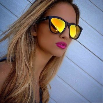 Elite CLASSIC 80s Retro WAY Style FARE Mirrored Multi Color Lens Sunglasses