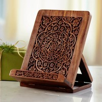 Wooden iPad & Cookbook Stand