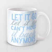 frozen, let it go lyrics... Mug by studiomarshallarts