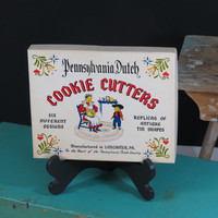 Pennsylvania Dutch Cookie Cutters Vintage Replicas of Antique Tin Shapes