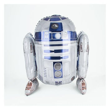 "Star Wars / R2D2 / 26"" Balloon / Star Wars Balloon /  Jumbo Balloon / Jumbo Giant Foil Mylar Starwars R2-D2 Balloon"