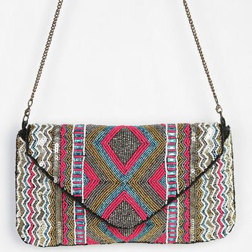 Ecote Zigzag Beaded Envelope Clutch - Urban Outfitters