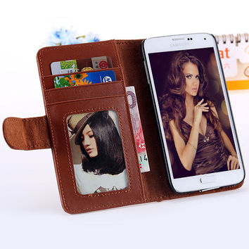 Deluxe Retro Case for Samsung Galaxy S5 /S6 /Edge /Plus /S7 Leather Cover Wallet Stand With Photo Frame & Card Slot Phone Bags