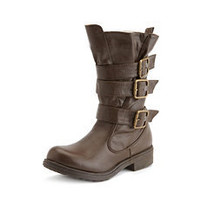 Belt-Wrapped Engineer Boot: Charlotte Russe