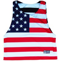 American Flag Black Out Lacrosse Reversible