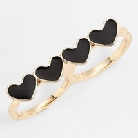 BP. Heart Double Finger Ring (Juniors) | Nordstrom