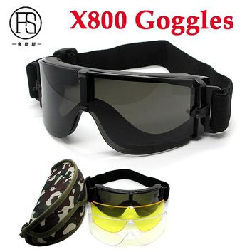 Tactical X800 Goggles UV400 Protection Outdoor Sport Eyewear Airsoft Paintball CS Game Gear Military Shooting Safety Glasses