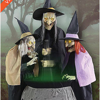 5 Ft Stitch Witch Sisters Animatronics - Decorations - Spirithalloween.com