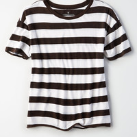 AE Soft & Sexy Striped Rugby Shirt, Black