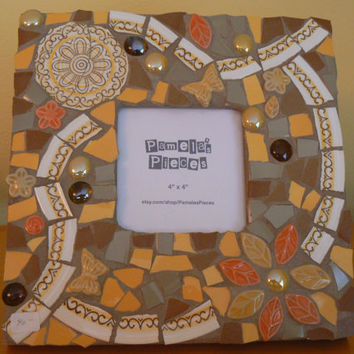 Retro  Mosaic Picture  Frame