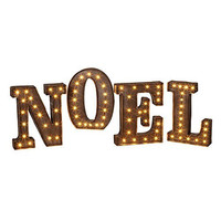 NOEL - LED Illuminated Marquee Word Sign - Christmas