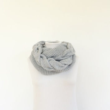 Chunky Loop Cable Knit Infinity Scarf / Knit Cowl / Women's Infinity Scarf / Men's Infinity Scarf /