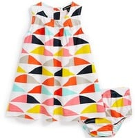 Marimekko 'Vinkkaus' Dress & Bloomers (Baby Girls)