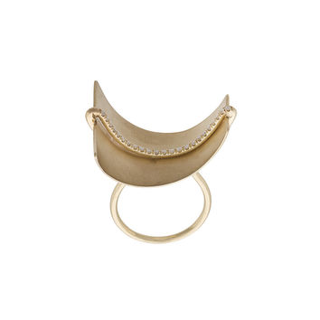 Wasson Fine Aligned Sail Ring - Gold studded Ring