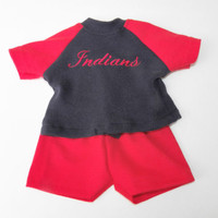 """american made bitty baby doll clothes 15"""" twin boy / 18"""" BASEBALL FAN Cleveland"""