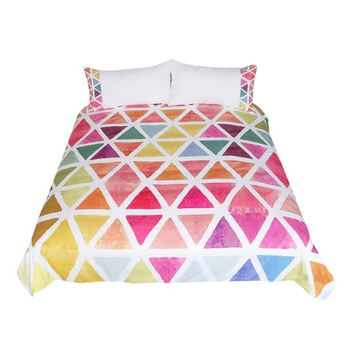 Colorful Geometric Print Bedding Set (Super Soft Duvet Cover with Pillowcases)