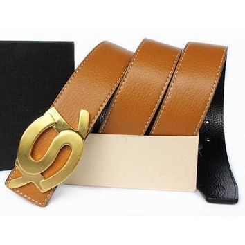 PEAPNQ2 YSL Woman Men Fashion Leather Belt2