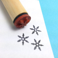 Ninja Throwing Star Rubber Stamp Shuriken