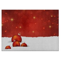 Red Christmas Cutting Board