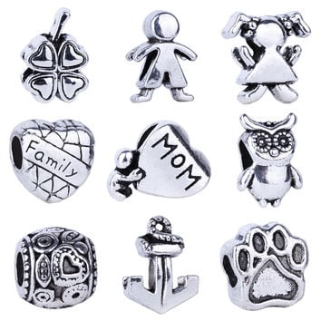 Silver Bead Charms for Bracelet