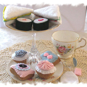 High Tea For Two Felt Play Food by MelsCreativeWishes on Etsy
