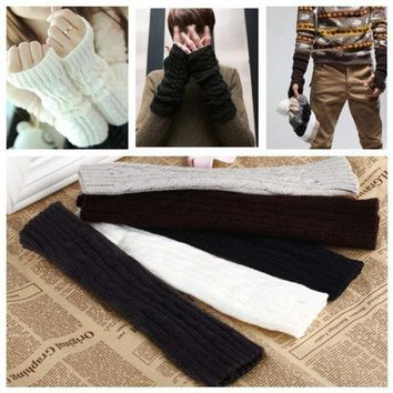 Clothing Accessories Fashion Winter Mitten Warm Unisex Men Women Arm Warmer Faux Fur Fingerless Knitted Long Gloves Ga0019 One Size = 1931635588