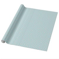 Blue Gray And White Diamond Print Wrapping Paper