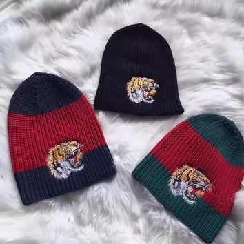 GUCCI Woman/Men Fashion Beanies Winter Knit Hat Cap