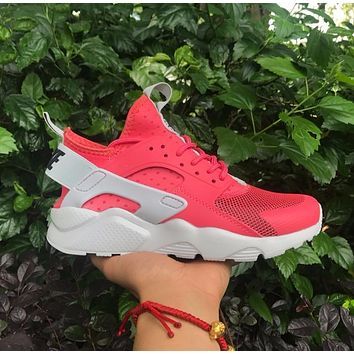 Best Online Sale Nike Air Huarache 4 Red Women Hurache Running Sport Casual Shoes Snea