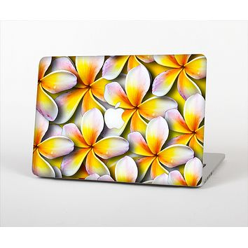 """The Vibrant Yellow Flower Pattern Skin Set for the Apple MacBook Air 11"""""""