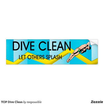 TOP Dive Clean Bumper Sticker