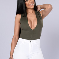Fatal Attraction Bodysuit - Olive