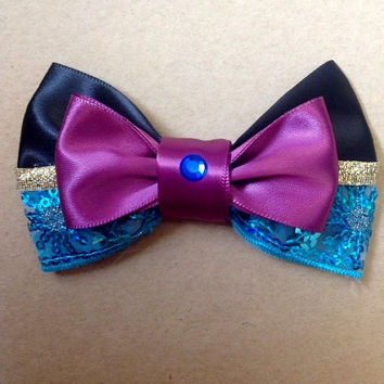 Elsa Coronation Dress Inspired Bow
