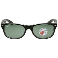 Ray Ban New Wayfarer Classic Polarized Green Sunglasses RB2132 605258 52