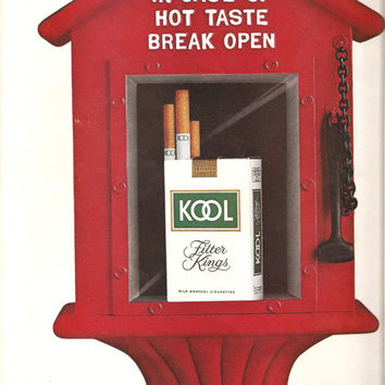 KOOL CIGARETTES Original 1970s Vintage Tobacco Advertisement Additional Ads Ship FREE Ready To Frame