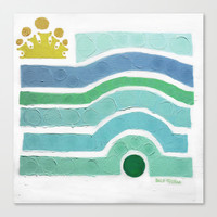 :: Princess n' Pea (Mint) Stretched Canvas by GaleStorm Artworks