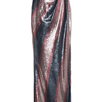 Johanna Ortiz Striped Sequin Maxi Skirt - Farfetch
