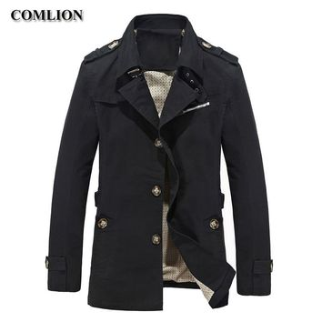 Trendy 2018 Autumn Spring Casual Mens Jackets And Coats Men Fashion Brand Clothing Solid Cotton Overcoat New Trench Homme Jacket C30 AT_94_13