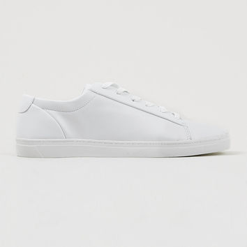 'Kingsley' White Hi-shine Shoes - Plimsolls & Sneakers - Shoes and Accessories - TOPMAN USA