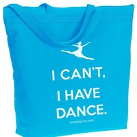 I Can't I Have Dance – Recycled Zipper Tote