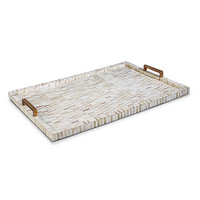 Multi Tone Bone and Brass Tray
