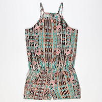 Full Tilt Ethnic Print Girls Romper Multi  In Sizes