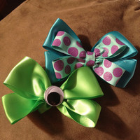 Disneys monsters inc bow pack. Mike wizowski & sulley