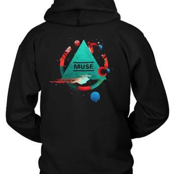Muse Poster Pyramid Tour Hoodie Two Sided