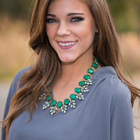 The Lydia Necklace, Emerald