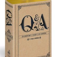 Q&A a Day: 5-Year Journal by Potter Style ~ Hardcover