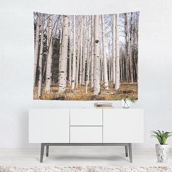 Tall Birch Forest Wall Tapestry