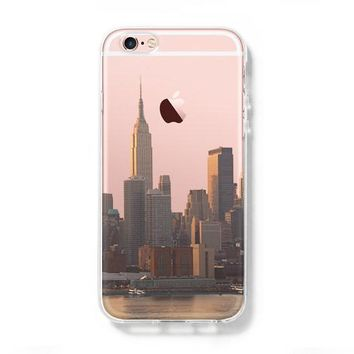 New York Cityscape iPhone 6S case iPhone 6 plus Case iPhone 5s 5 Case iPhone 5C Clear Case C0001